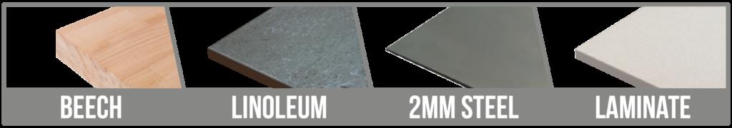 Worktop Options Steel + 3