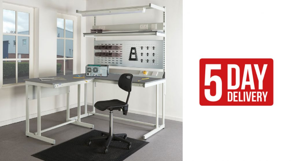 ESD Cantilever Workbenches