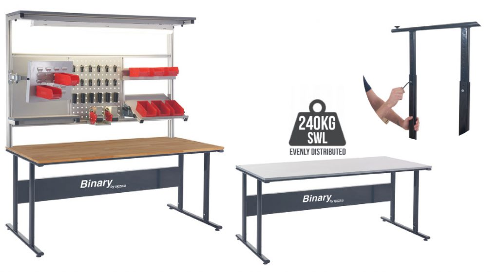 Manual Height Adjustable Binary Workbenches