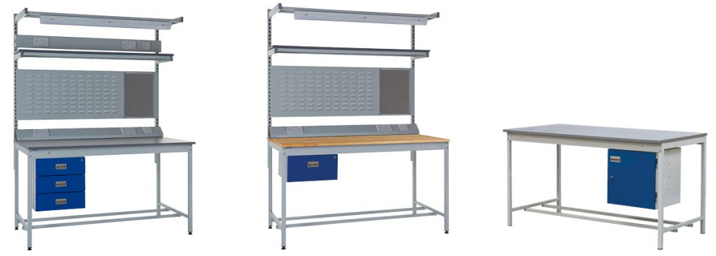 A variety of Square Tube Workbench options