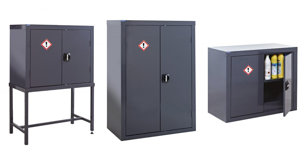 3 examples of Coshh Cupboards