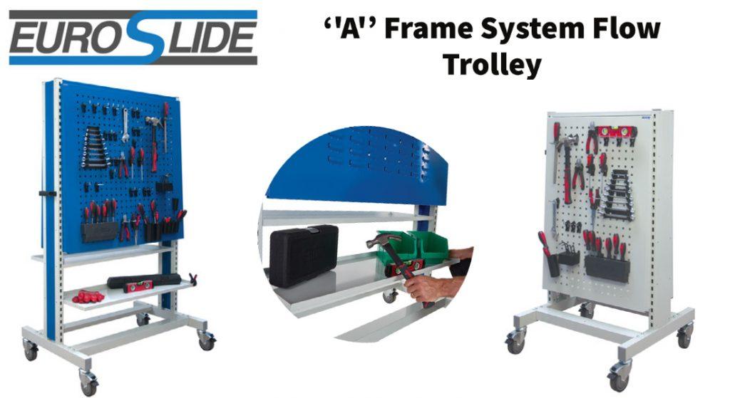 A Frame System Flow Tool Storage Trolleys