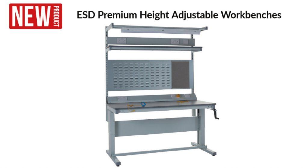 ESD Premium Height Adjustable Workbenches