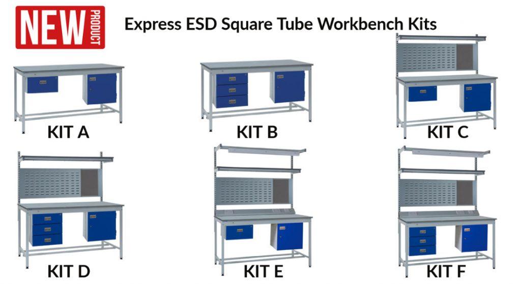 Express ESD Square Tube Workbench Kits