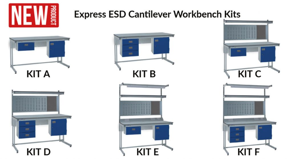 Express ESD Cantilever Workbench kits