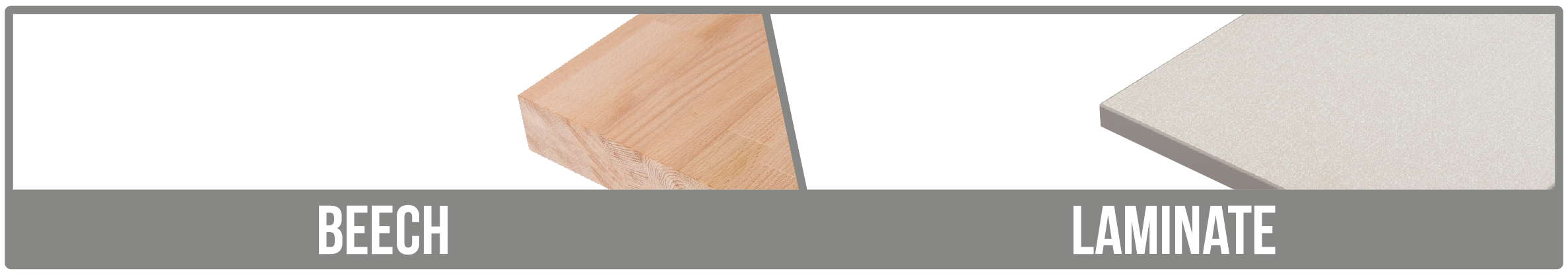 Only Laminate and Beech Worktops Available on 5 Day Delivery.
