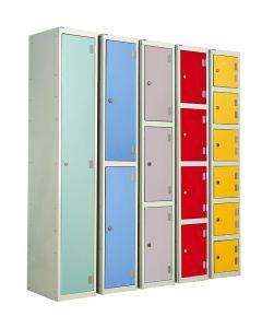 Laminate Door Lockers - 2 Compatment Campanula Door Colour - UK Locker Manufacturer