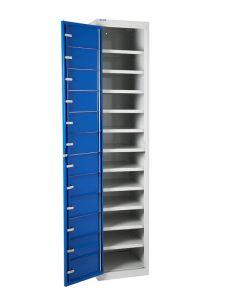 Flat Garment Lockers - 15 Shelves - UK Locker Manufacturer