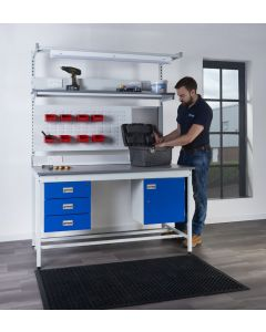 Square Tube Workbench with Laminate Worktop with Optional Drawer & Cupboard Accessories