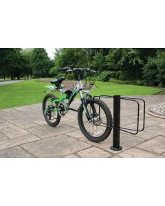 Floor Mounted Bike Rack - Double Sided - 2 Bikes - H.560 W.570 D.120 - Black