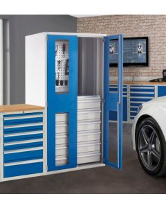 Multi-Storage Cupboard With Vision Doors with Optional Accessories