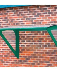 Small Wall Mounted Smoking Shelter Green Framework Colour Option
