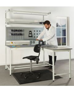 Square Tube ESD Workbenches - With Extension Bench