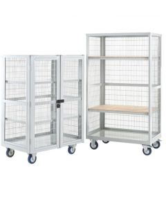 Boxwell Trolley With Doors in Colour Option Green
