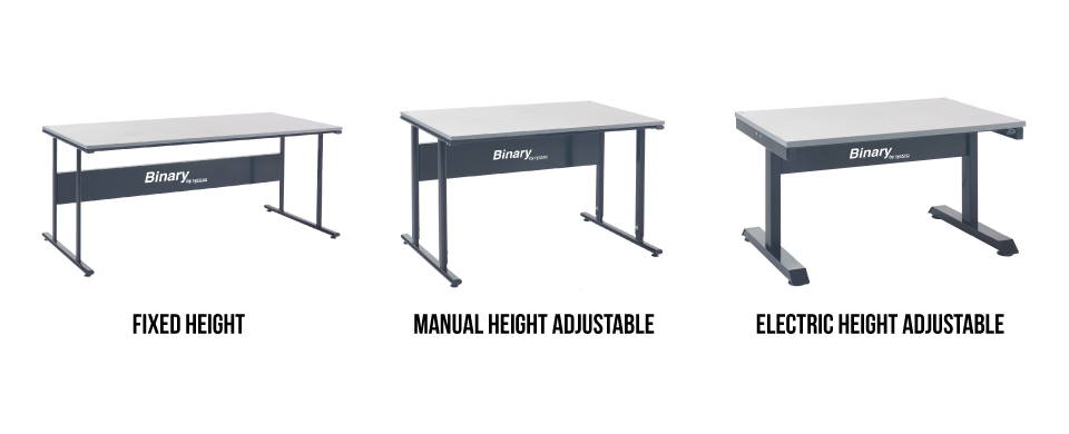Binary Height Adjustable Workbenches
